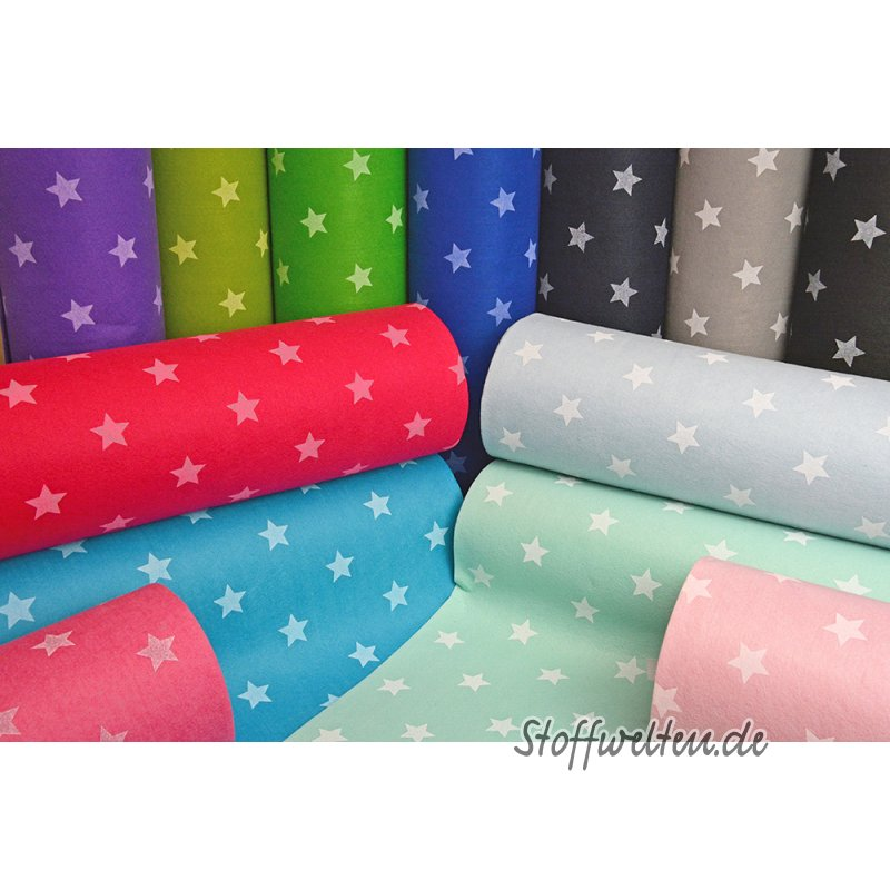 toller sterne filz rosa waschbar 3mm dick 90cm breit meterware. Black Bedroom Furniture Sets. Home Design Ideas