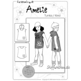 Farbenmix AMELIE Tunika Kleid Schnittmuster