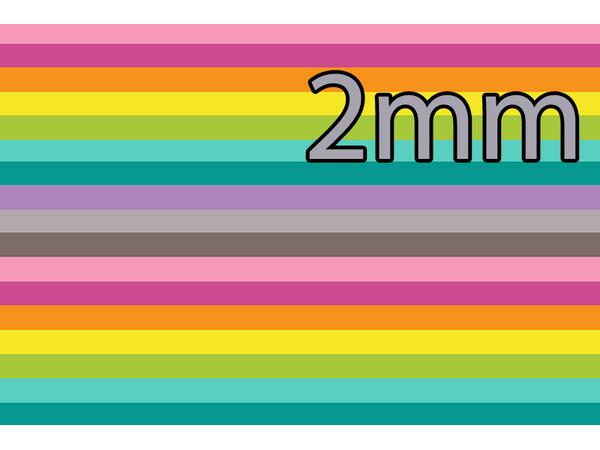 STOFFWELTEN exklusiv - new rainbow stripes 2mm girl...