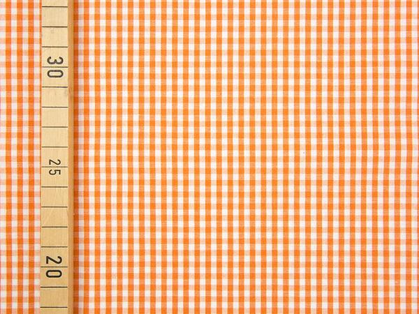 VICHY KARO - 3x3 mm Baumwolle Webware - orange/ weiß