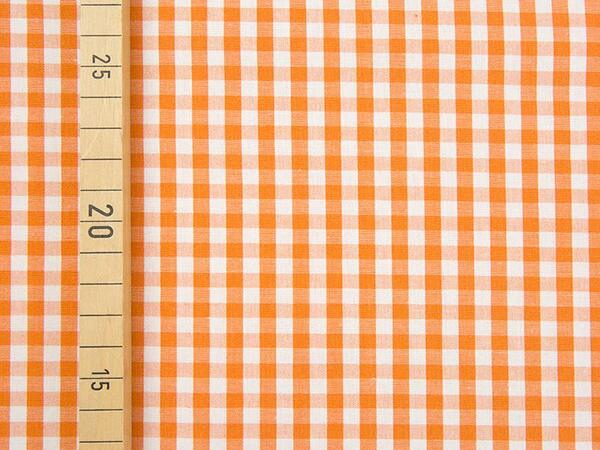 VICHY KARO - 5x5 mm Baumwolle Webware - orange/ weiß