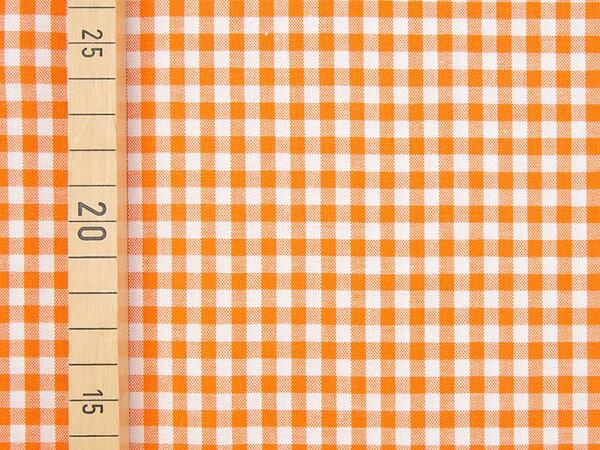 VICHY KARO - 4x4 mm Baumwolle Webware - orange/ weiß