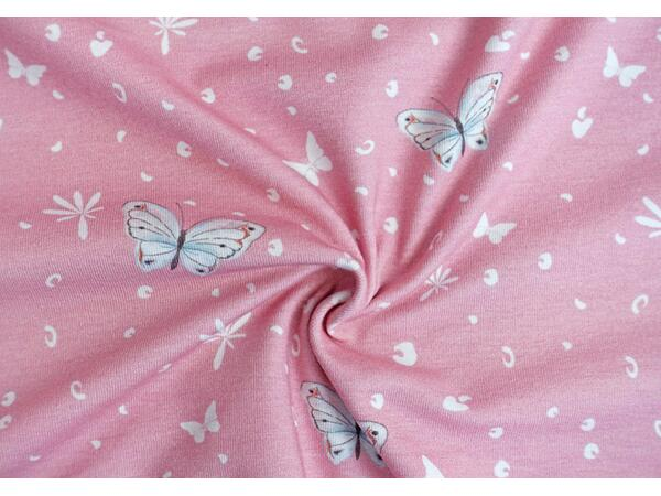 vintage butterlfy auf altrosa, by living for fabrics,...