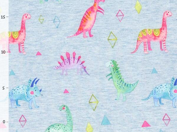 WATERCOLOR DINO Softshell - blau melange, winddicht