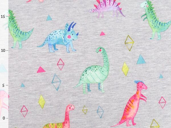 WATERCOLOR DINO Softshell - grau melange, winddicht