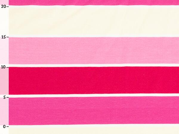 by living for fabrics - BLOCKSTREIFEN Jersey, pink creme,...
