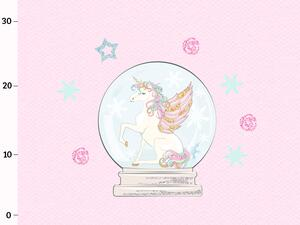 Bio-Jersey WINTERZAUBER UNICORN Panel, Einhorn rosa, by...