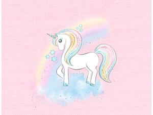Bio-Jersey, Regenbogen-Einhorn Panel, unicorn dream by...