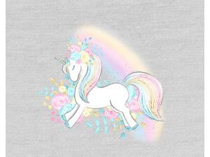 Bio-Jersey, Regenbogen Einhorn Panel unicorn dream, by...