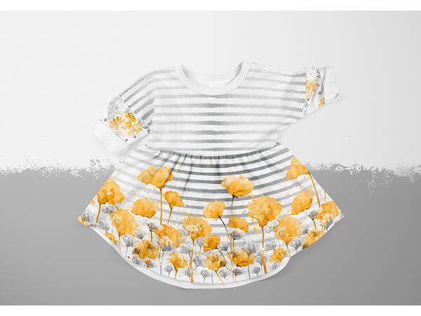 Bio-Jersey FLOWERLEAVES vintage flower love by BioBox