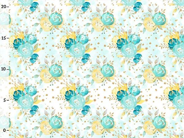 Bio-Jersey, love & flower, gold mint collection by...