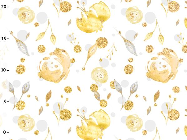 Bio-Jersey, gold flowers, gold mint collection by BioBox,...