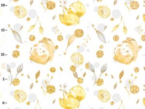 Bio-Jersey, gold flowers, gold mint collection by BioBox