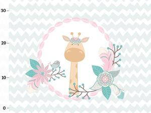 Bio-Jersey, Giraffe PANEL, boho jungle by BioBox