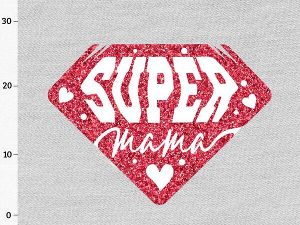 Bio-Jersey, XL Panel SUPER MAMA diamant, SuperMama by...