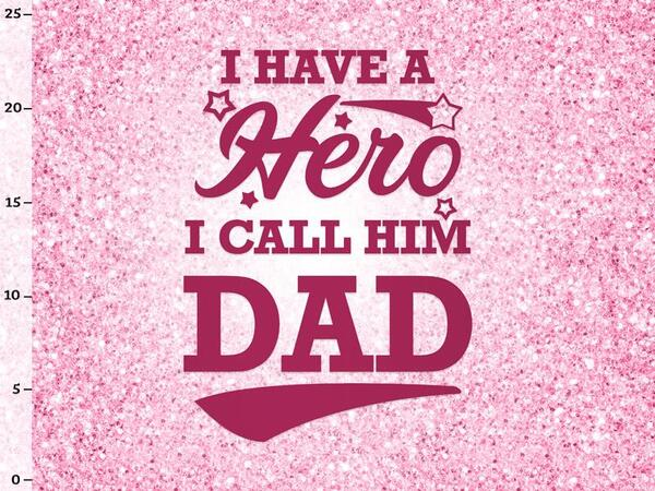 Bio-Jersey, daddy hero fake-Glitzer Panel,  Glitzer,...