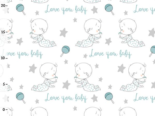 Bio-Jersey, LOVE YOU baby, boy, family in love by BioBox,...