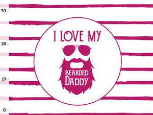 Bio-Jersey, Panel - I love my bearded daddy/ Superkind,...