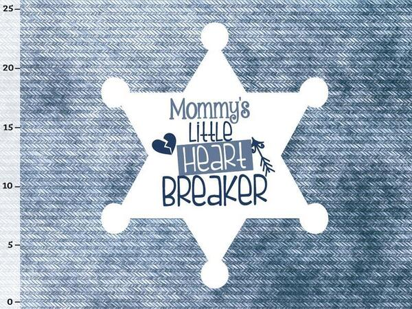 Bio-Jersey, Panel - mommys heartbreaker/ Superkind,...