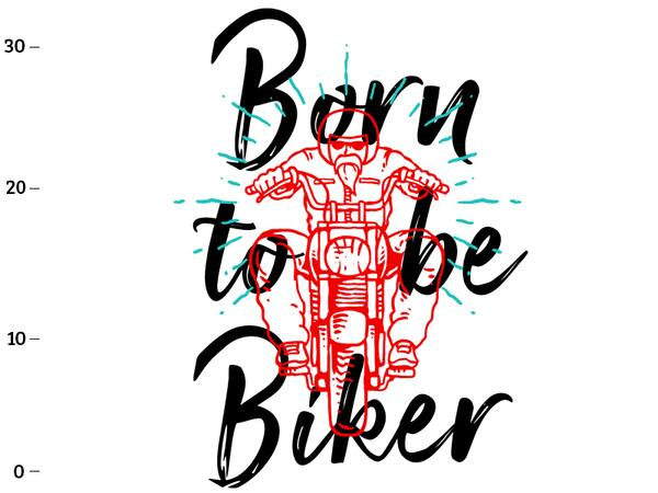 Bio-Jersey, XL-Panel, born to be biker, by BioBox