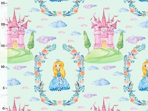 Bio-Jersey, MAGIC WORLD, Prinzessin Schloss mint, by BioBox