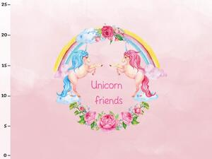 Bio-Jersey, MAGIC WORLD Panel, Unicorn friends, by BioBox