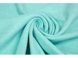 hochw. INTERLOCK mint meliert, Baumwolle (Organic Cotton)