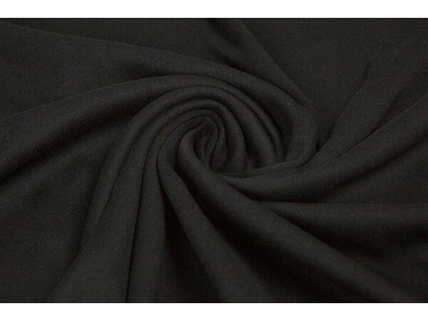 hochw. INTERLOCK schwarz, Organic cotton, ÖKOTEX
