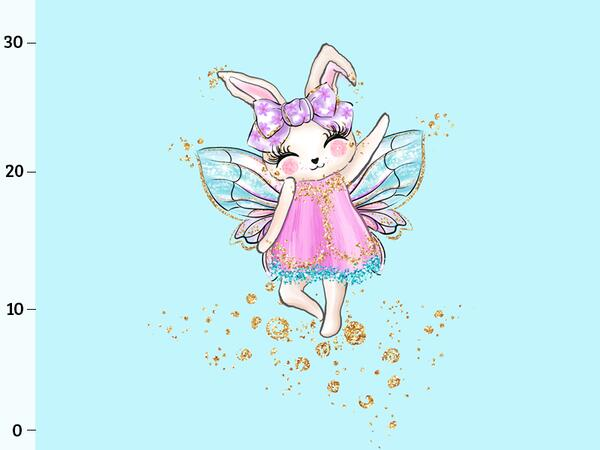 Bio-Jersey fairyfunnybunny Panel, Hasenzauber by BioBox,...