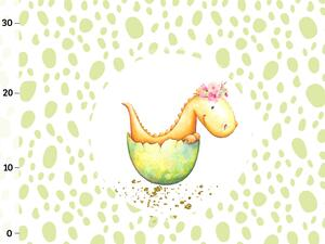 Bio-Jersey dragon egg baby-girl Drache, Panel,...