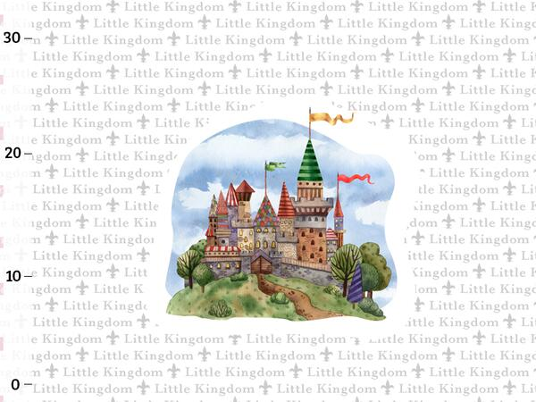 Bio-Jersey Little Kingdom Panel, Land der Ritter, by BioBox