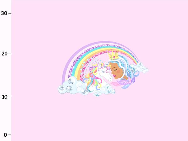 Bio-Jersey, Regenbogen-Freunde Panel, sparkle unicorn, Einhorn, by BioBox
