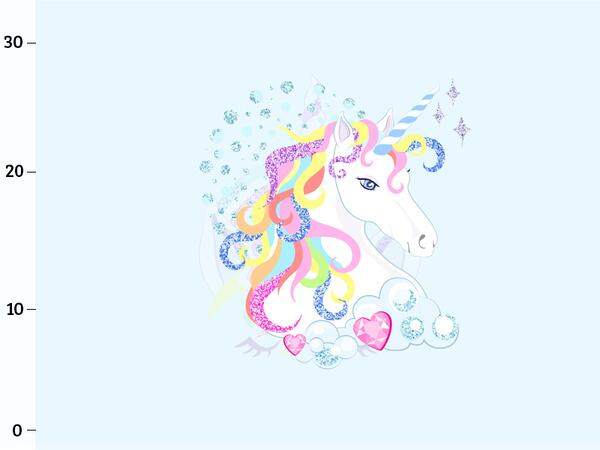 Bio-Jersey, Regenbogen Einhorn, Panel, sparkle unicorn by BioBox