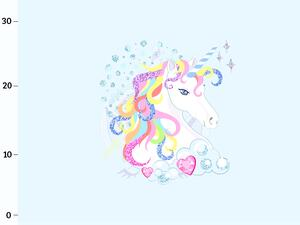 Bio-Jersey, Regenbogen Einhorn, Panel, sparkle unicorn by...