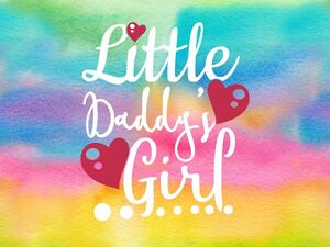 Bio-Jersey Superkind rainbow Panel, daddys little girl,...