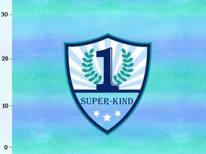 Bio-Jersey Superkind Panel, Super-Kind ocean watercolor...