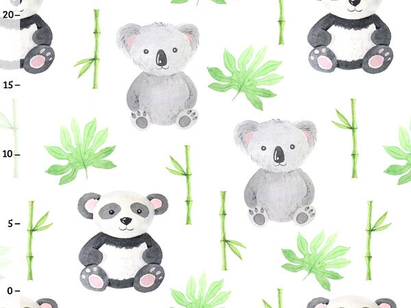 Bio-Jersey, Koala Panda, happy zoo, by BioBox, ÖKOTEX