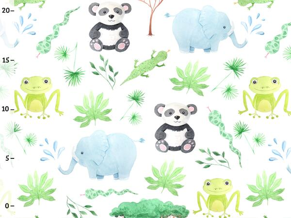 Bio-Jersey, Elefant Frosch, happy zoo, by BioBox, ÖKOTEX
