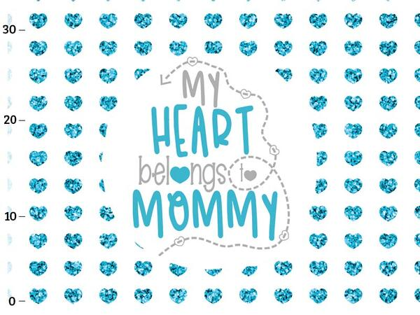 .Bio-Jersey Supermama Panel, my heart belongs to mummy by...
