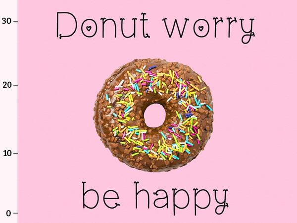 Bio-Jersey, Donut worry be happy XL Panel für Große, tasty food, BioBox