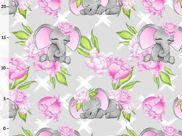Bio-Jersey, Elefanten & Blumen, Flower elephants, by BioBox