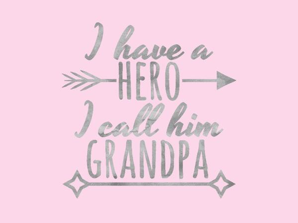 Bio-Jersey, my grandpa my hero, rosa, Super-Opa, by...