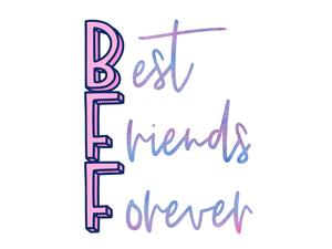 Bio-Jersey, BFF Best friends forever PANEL Herz,...