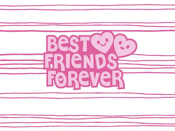 Bio-Jersey, best friends forever PANEL, Super-Freundin by...