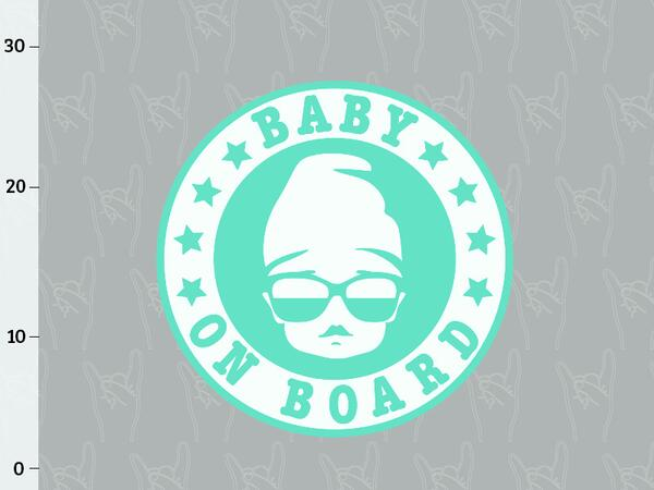 Bio-Jersey, Baby on board Panel, Windel Rocker, by BioBox