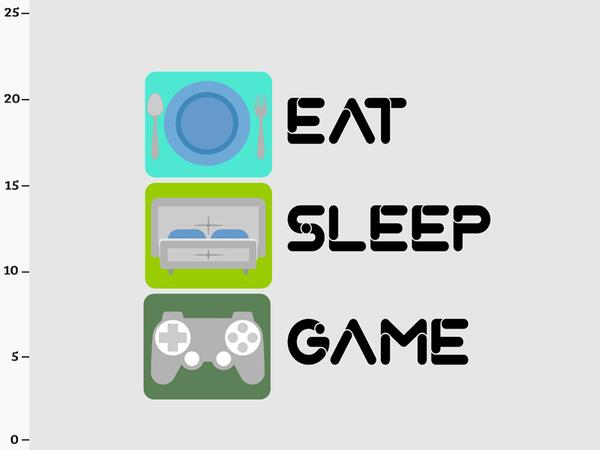 Bio-Jersey, Eat Sleep Game Panel, Game Over, by BioBox,...