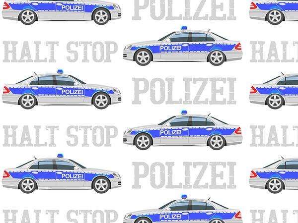 Bio-Jersey, POLIZEI - halt stop, by BioBox, ÖKOTEX