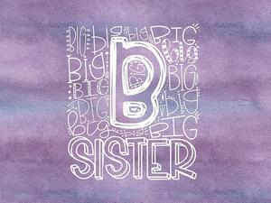 Bio-Jersey, XL Panel BIG SISTER, Super-Schwester