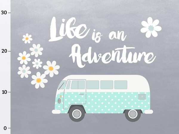 Bio-Jersey, Life is an adventure XL Panel, Happy Camper,...