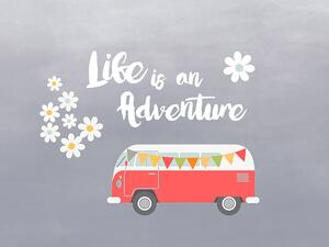 .Bio-Jersey Panel, Life is an adventure, Happy Camper, by...